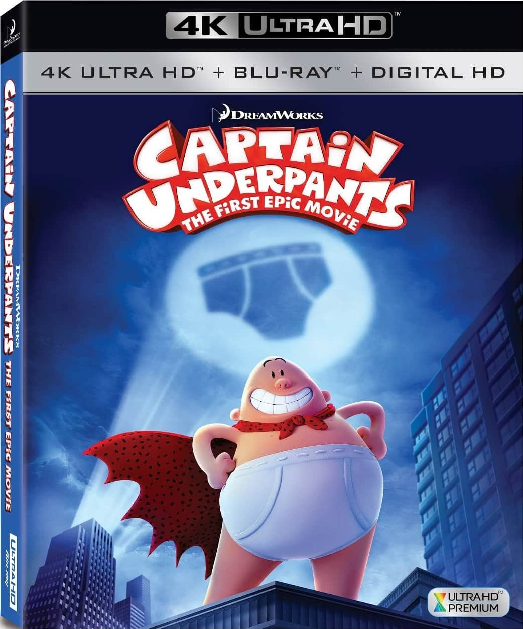 Captain Underpants The First Epic Movie 2017 4K HDR Blu-Ray