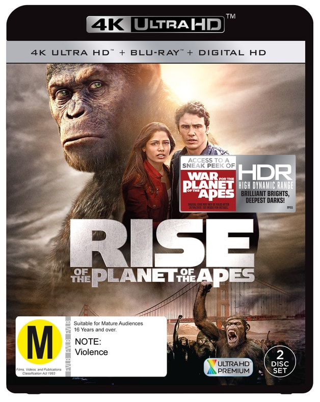 Rise of the Planet of the Apes 2011 Blu-Ray 4K HDR