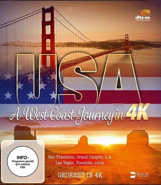 USA A West Coast Journey 4K RIP HDR 2014 DOCU Ultra HD